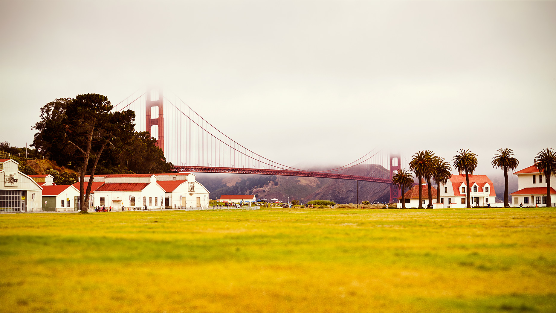 Crissy Field and Golden Gate Bridge in San Francisco